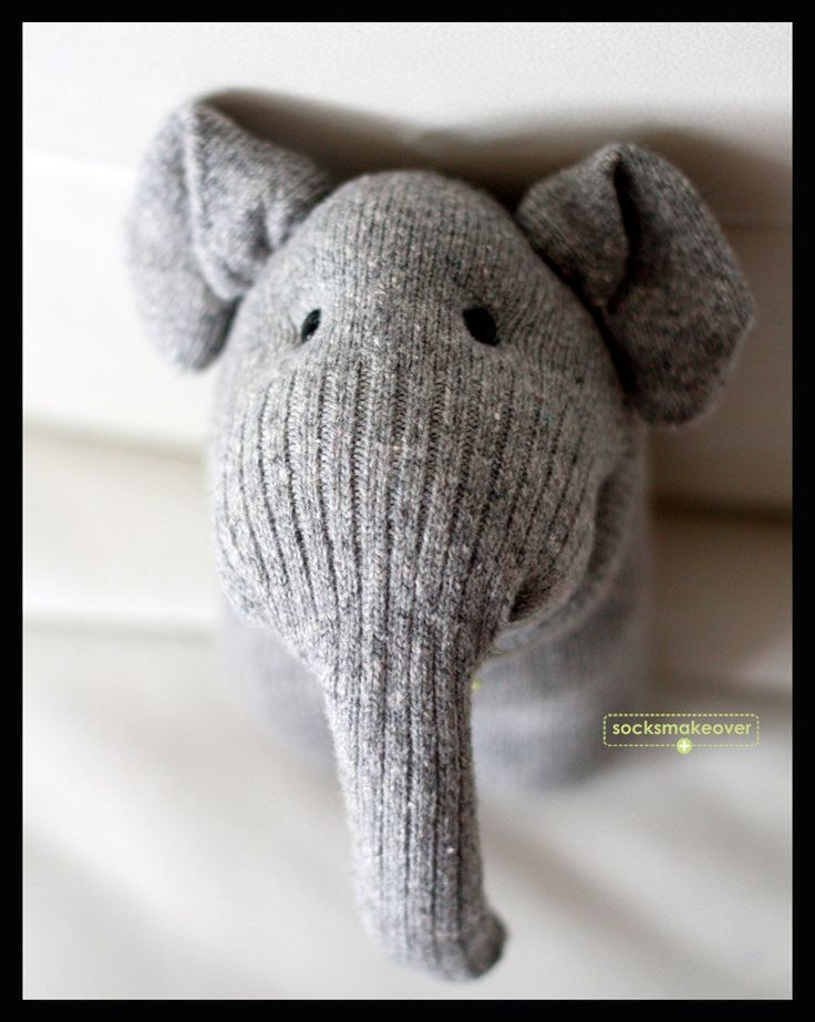 Sock-a-phant by socksmakeover #Toy #Plushie #Elelphapnt