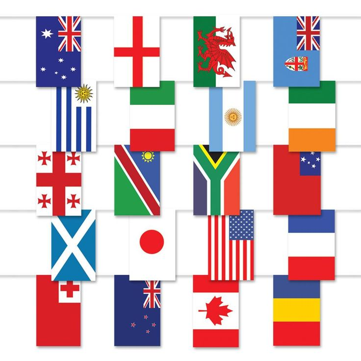 10m x 30cm 20 Country Plastic Flag Rugby Bunting features flags from all qualifying countries. This 20m bunting gives great decorating coverage, team with a Rugby World Cup Flag Pack for a great display