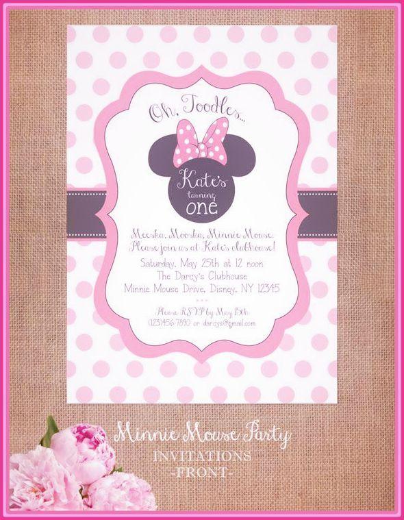 Tarjetas De Baby Shower Para Editar Invitaciones De Minnie