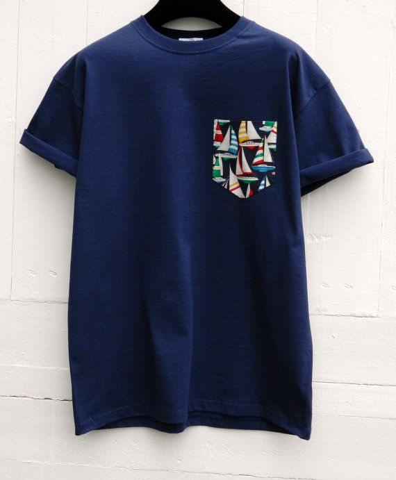 Men's Multi Colour Sailing Boats Design Navy by HeartLabelTees
