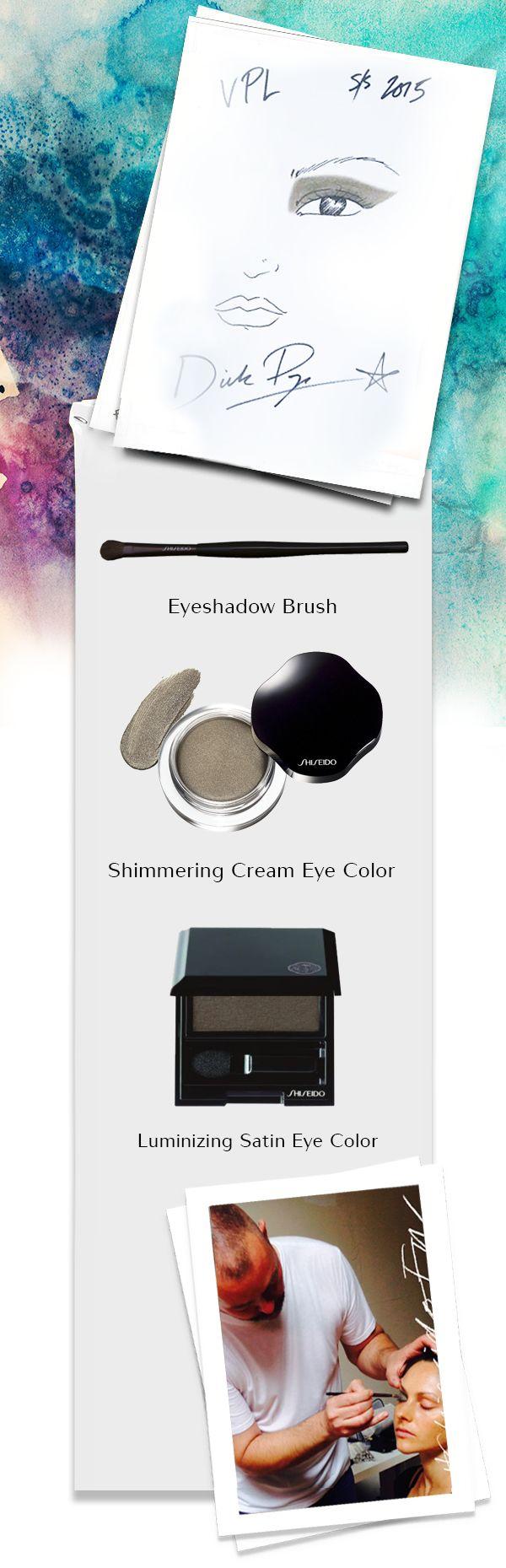 Dick Page all'opera nel #backstage della sfilata di VPL. Smoky eyes rivisti in forma geometrica e pelle con effetto nude. #ShiseidoFW #makeup www.shiseido.it