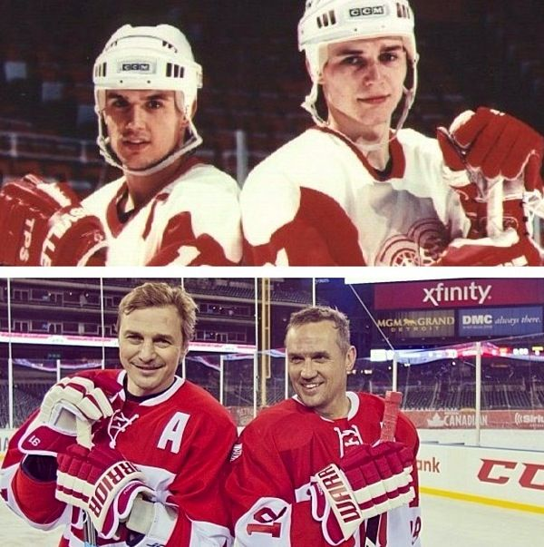Then and Now Steve Yzerman and Sergei Fedorov