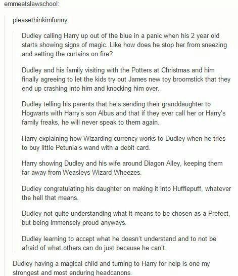 though dudley having a magical child is unlikely but oh god this is cute <3