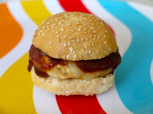 BBQ Chicken Burgers. I wanna try these w/ground beef and homemade bbq ...