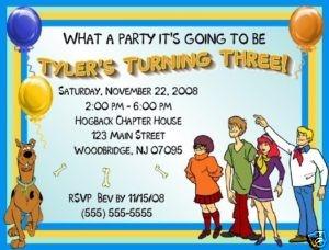 more invitations scooby doobirthday