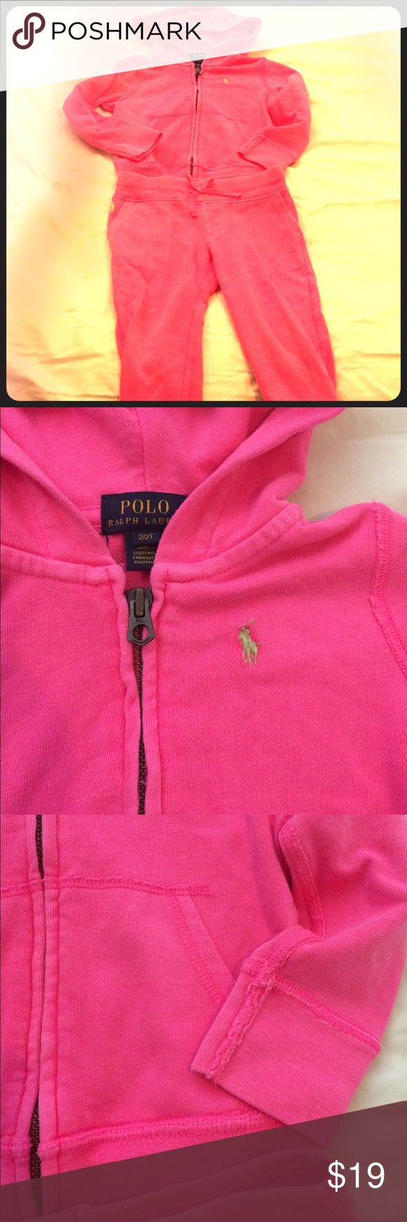 Polo sweatpants set girls size 2t Lovely girly pants No rips holes or stains  Good preloved condition  Check my closet and bundle Polo by Ralph Lauren Matching Sets