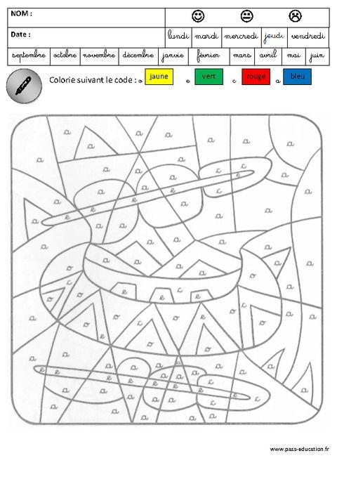 Coloriage magique - Lecture - Maternelle - Grande section ...