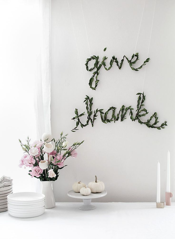 """Make a simple and modern Thanksgiving """"Give Thanks"""" banner."""