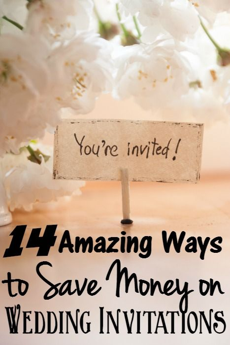 The 14 amazing ways you can save money on your Wedding Invitations. - Looking to save money on wedding invitations? Check out these 14 amazingly easy ways to save.
