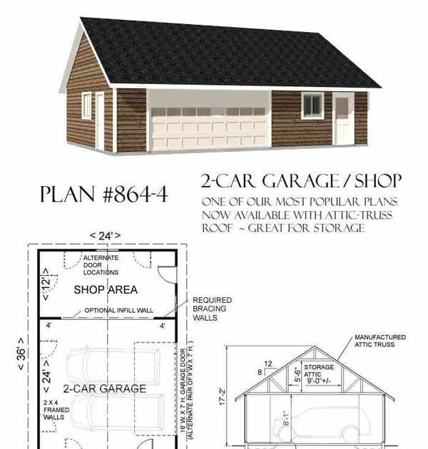 Best Representation Descriptions Two Car Garage With Shop Plans Related Searches Floor Plans Detached Ga Garage Plans Garage Plans Detached Diy Garage Plans