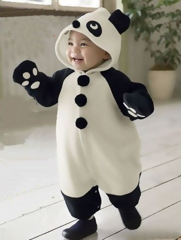 Panda Romper  Mittens Cute Baby Outfit - Cool, Cute  Funky Baby Clothes - more at megacutie.co.uk