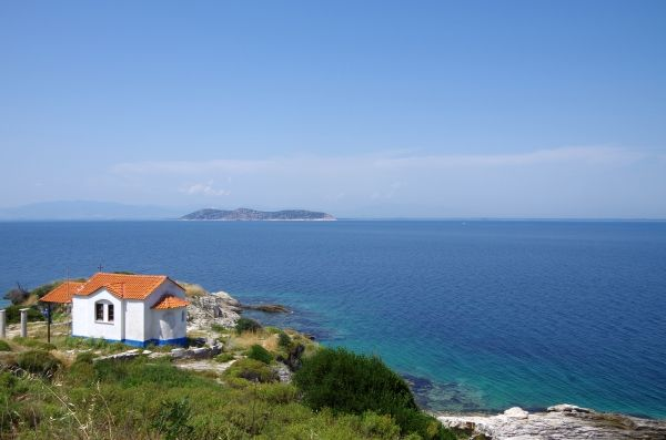 The church and the sea