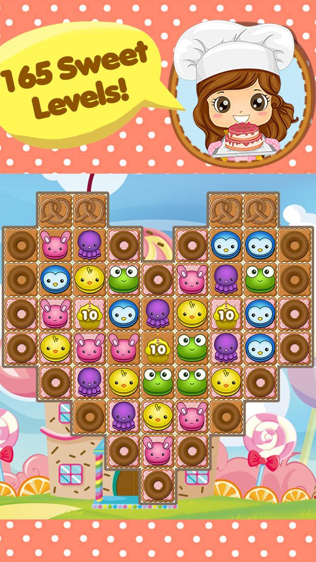 App Shopper: Cookie Crumble : Sweet Cupcakes and Animal Friends - Best Match 3 Puzzle Game - Surprise Edition (Games)