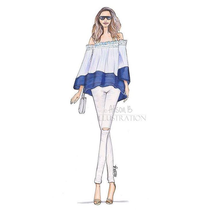 Custom Fashion illustration for @zurilifestyle