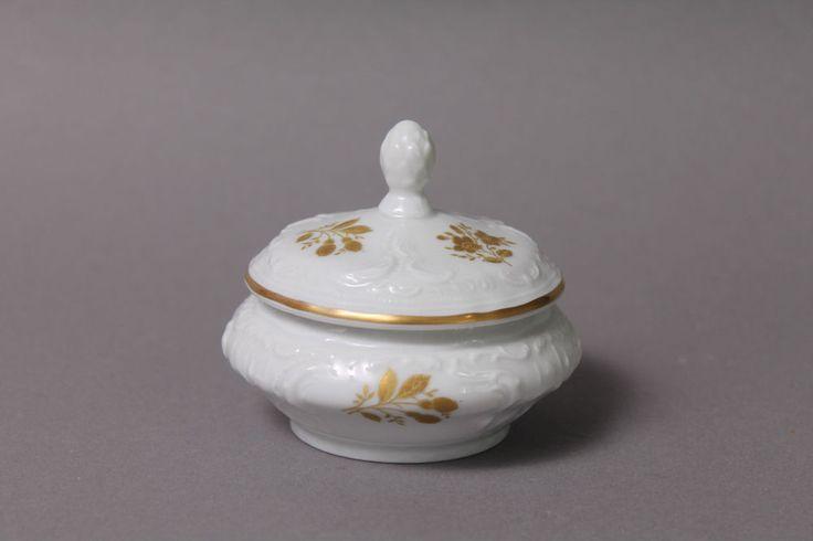 Rosenthal Classic Rose Collection kleine Dose D.= ca. 7 cm Golddekor Goldblumen