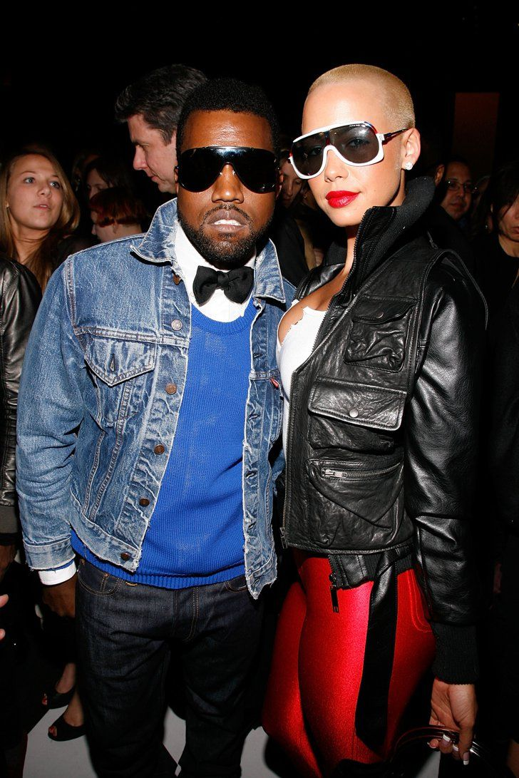 Pin for Later: Remember When These Celebrity Couples Went Public For the First Time? Kanye West and Amber Rose in 2009