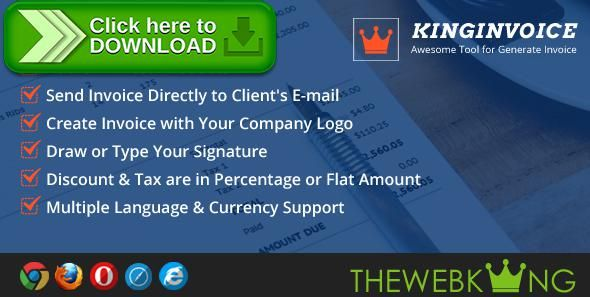 [ThemeForest]Free nulled download KingInvoice - Awesome Tool for Generate Invoice from http://zippyfile.download/f.php?id=47477 Tags: ecommerce, accounting, bills, bootstrap, generator, invoice maker, invoice management, invoices, invoices class, order, pdf, pdf-generator, quotations, receipts, responsive invoice, send invoices