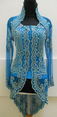 $131 from Tucson. Indonesian Kebaya Wedding Dress Formal Gown in Blue