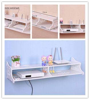 À double usage sans fil routeur stent placé articles modem TV set - top étagère murale storagebox rack support ménagers meilleurs accessoires