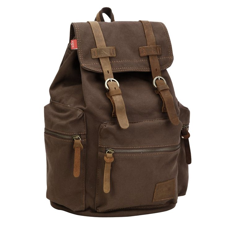 Vintage Jungen Herren Schultertasche Canvas Schulrucksack Reisetasche Wanderrucksack Rucksack Backpack Sport Tasche