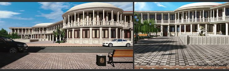 Дизайн экстерьера гостиницы в классическом стиле