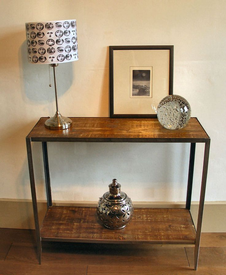 Industrial style console table we make these any size contact info@peakweld.co.uk.