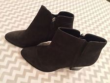 Franco Sarto Leather Boot Heels, Black, Size 10m