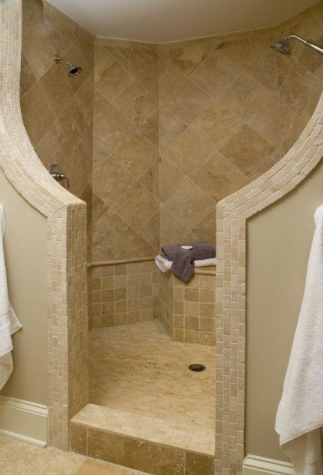 Die besten 25+ Gemauerte dusche Ideen auf Pinterest   Waschraum ...   {Moderne gemauerte duschen 52}
