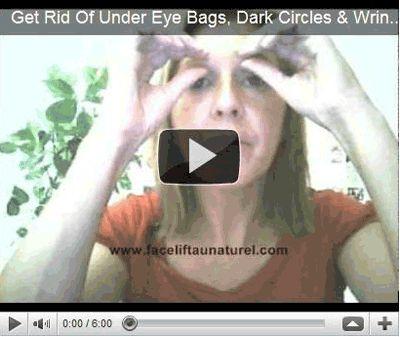 Facial acupressure exercise to get rid of eye bags, dark ...