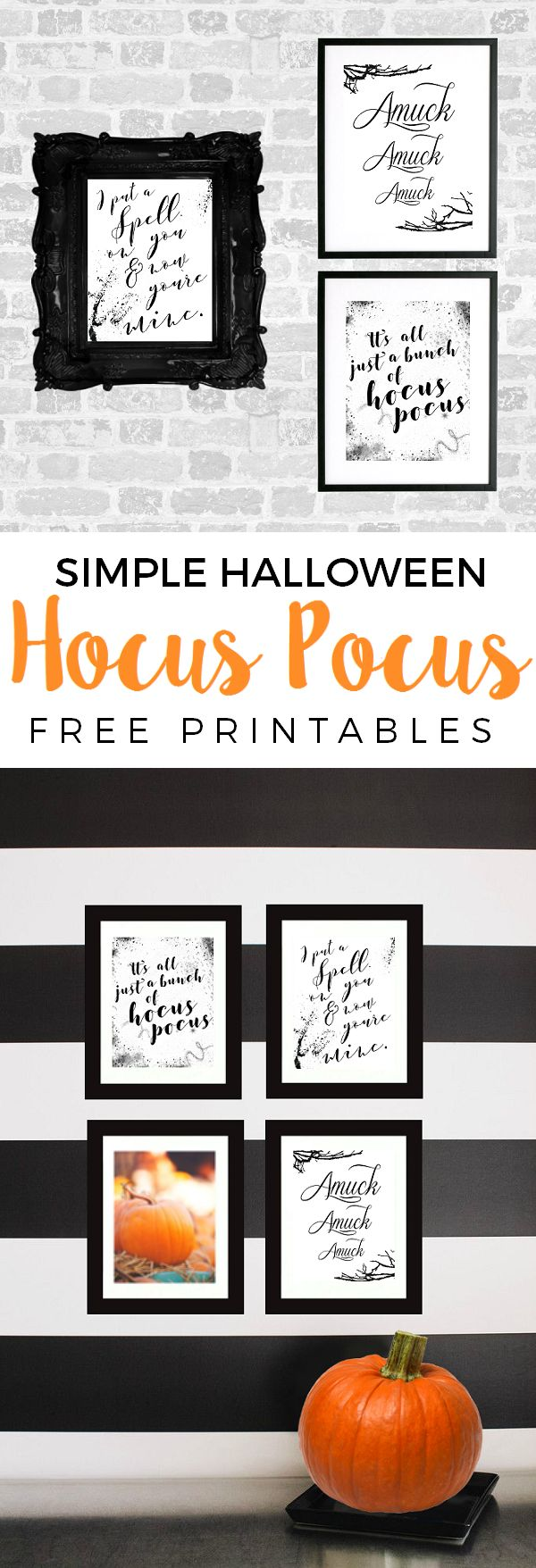 Simple Halloween Hocus Pocus freebies pin