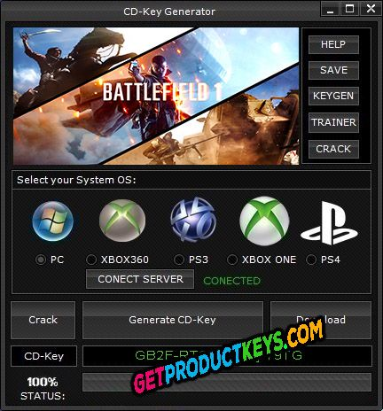 Battlefield 1 CD Key Generator (Keygen)