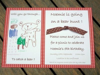 That Cute Little Cake: {Party}We're Going on a Bear Hunt Birthday Party-Part 2