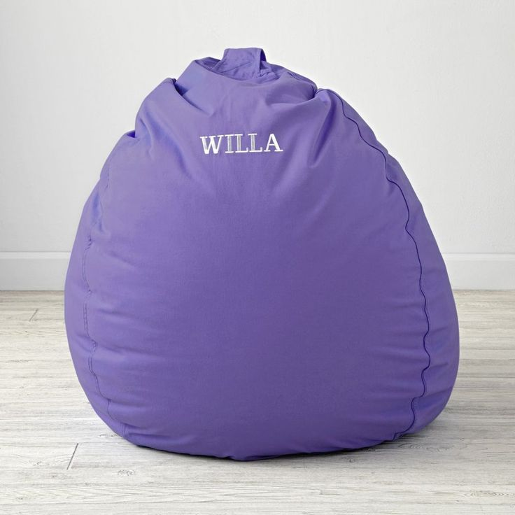"""Personalized 40"""" Ginormous Purple Bean Bag Chair"""