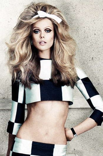The Allure Magazine Checks & Balances Editorial is Retro #fashion trendhunter.com