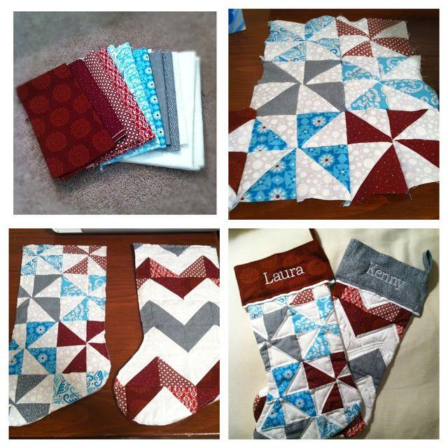 For my fellow pinners who are in to DIY. Quilted Christmas Stockings. #quilting #christmas #stocking