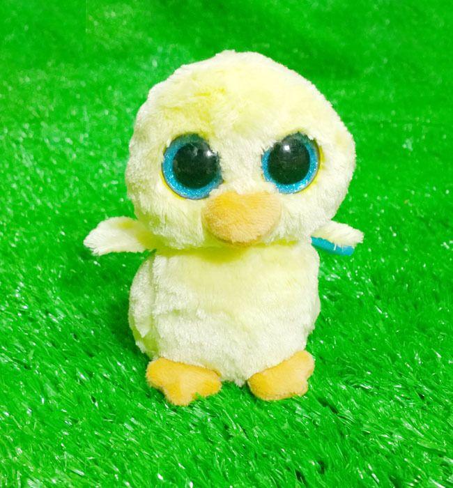 Ty vaias gorro - Goldie o pintainho com glitter olhos grandes olhos brinquedo coleção toy(China (Mainland))