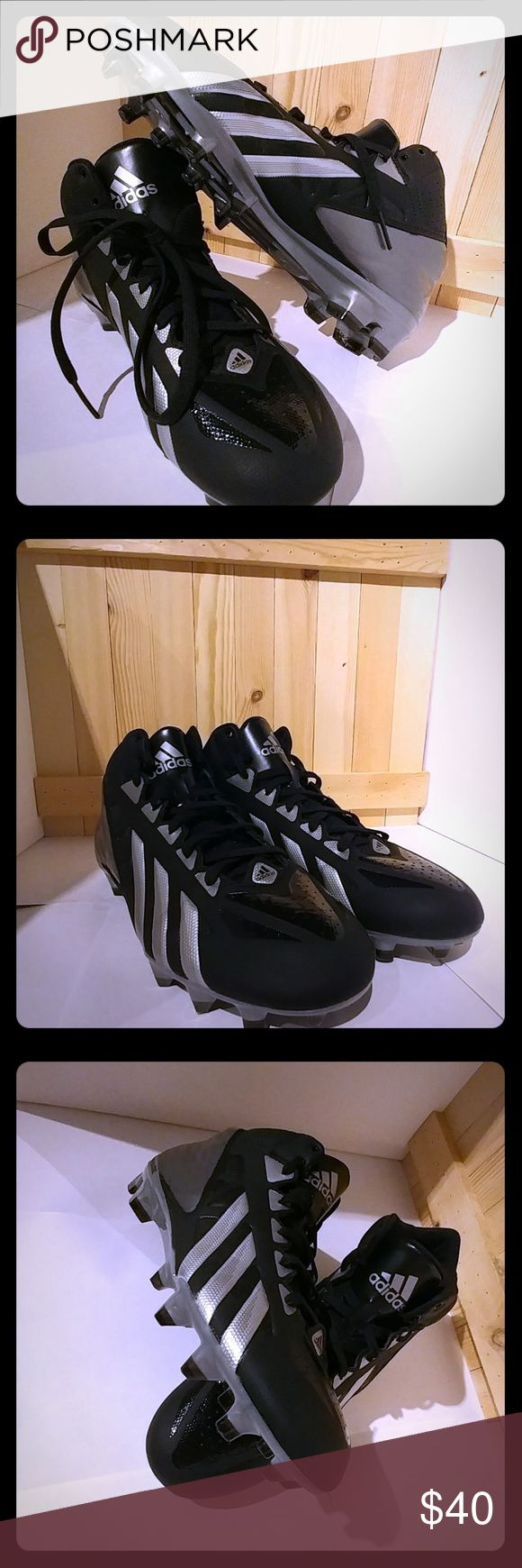 Adidas Baseball Cleats Silver and Black Adidas Quickframe Cleats Adidas Shoes Athletic Shoes