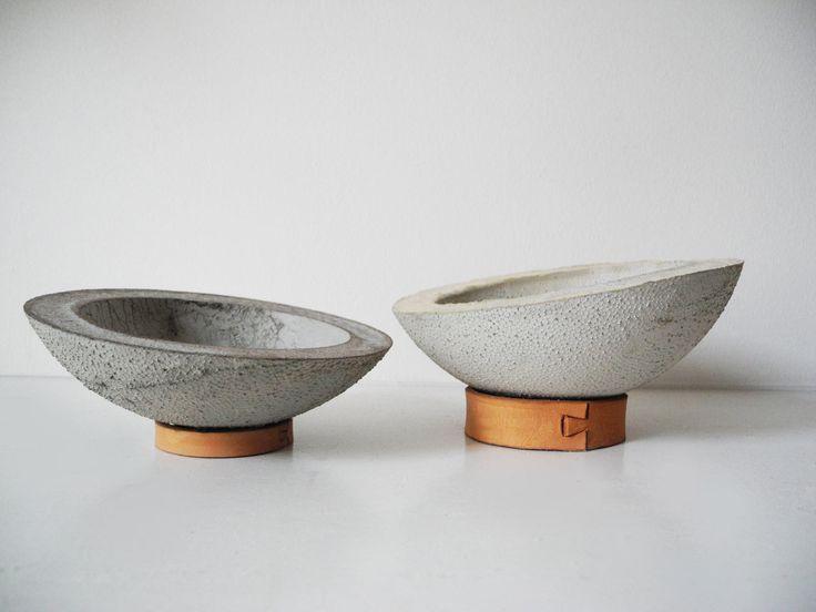 concrete-modern-bowls - Design Milk | Betonschalen