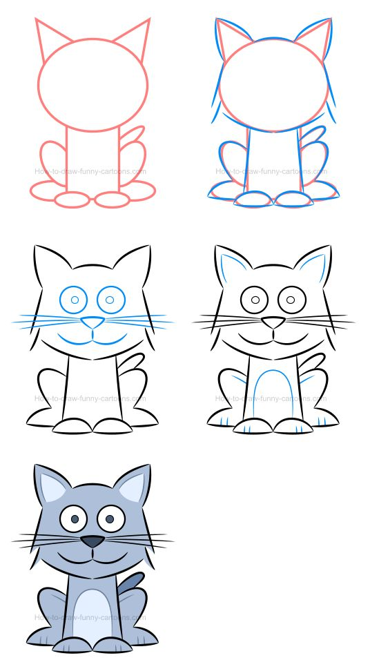 How to draw a kitten and how to play with proportions.