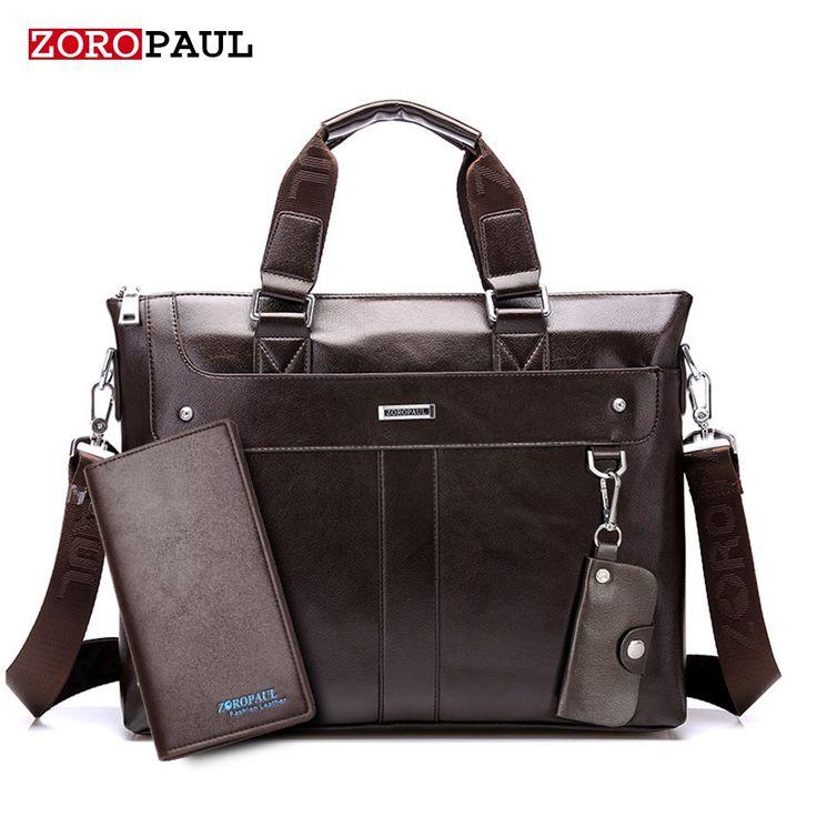 24.72$  Buy here - ZOROPAUL Fashion Men Tote Casual Briefcase Business Shoulder Black Leather High Quality Messenger Bags Laptop Handbag Men's Bag  #aliexpress