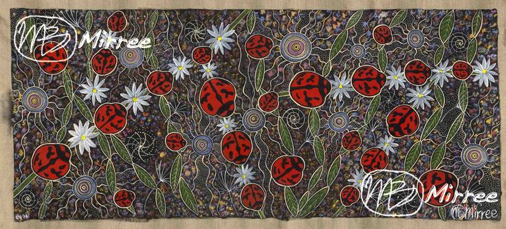 """Ancestral LADY BEETLES"" ~ INNER CHILD ""Don't ever lose the child like innocence in your heart, always allow it to play, keeping you young.""  Mirree is a Contemporary Aboriginal Artist from Wiradjuri country in NSW Australia. She has been painting since a teenager; she wishes to share her gift of painting & story telling to the world. Purchase Mirree's Art here: www.dreamsofcreation.com OR follow her on facebook: https://www.facebook.com/artbymirree"