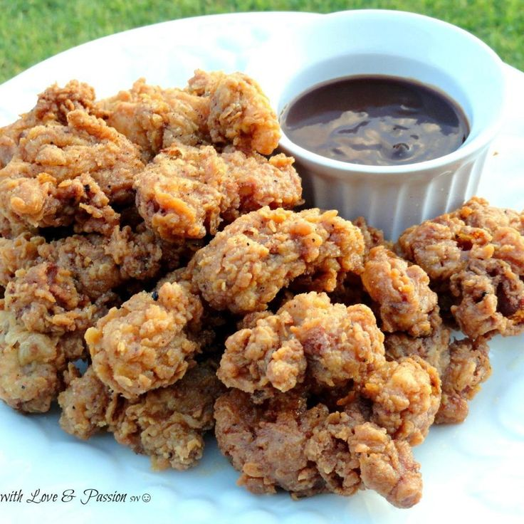 We southern girls & guys just love us some fried chicken gizzards.   My husband Roy is from Mississippi and he just loves some down home deep fried chicken gizzards.  This is just plain goodness. Enjoy these crunchy, smokey & tasty bites of the south.  Cooking with Passion, sw:)
