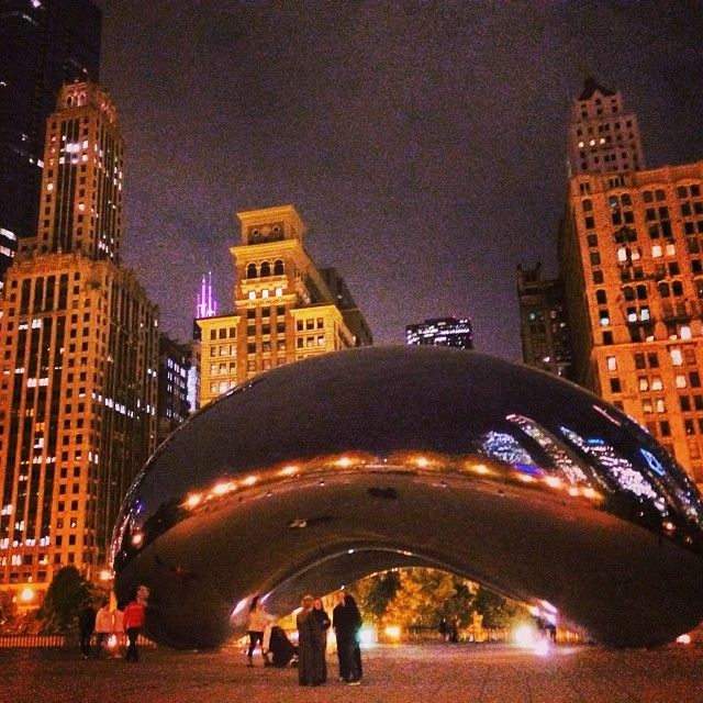 """You cant visit Chicago without stopping by Millennium Park, and taking a pic at """"The Bean"""".  Be sure to walk over and see the Crown Fountain too."""