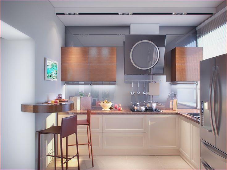 Кухня с окном на рабочей зоне - Дизайн интерьера квартиры на ул. 8 Марта г. Тюмень