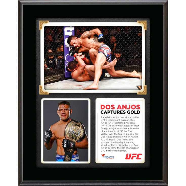 Rafael Dos Anjos Ultimate Fighting Championship Fanatics Authentic 10.5'' x 13'' UFC 185 New Lightweight Champion Sublimated Plaque - $23.99