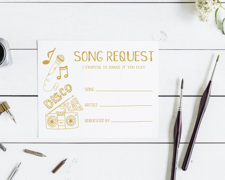 Wedding Song Request Songs Etsy Store I Promise Card Stock