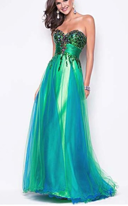 Blue And Green Dress – tart.tk