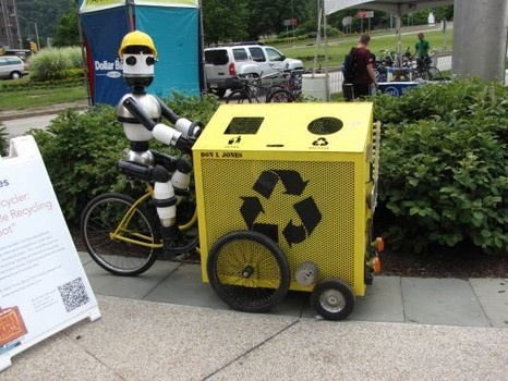 The Recycler: Mobile Recycling Robot by Don Jones at Pittsburgh Arts Festival