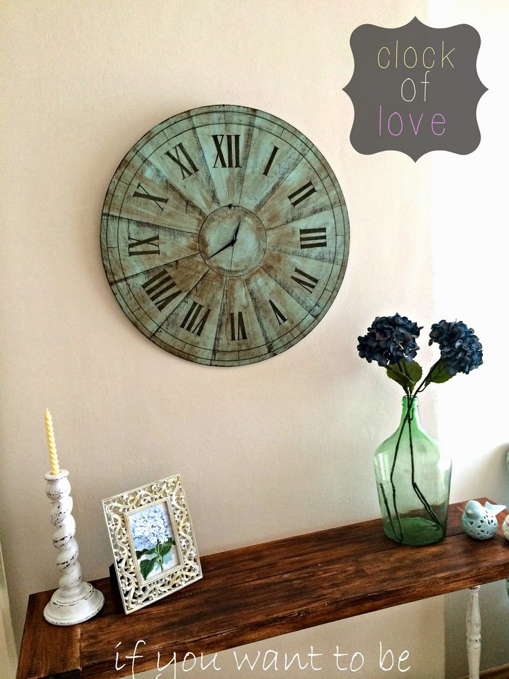 HOMEMADE WALL CLOCK / EV YAPIMI DUVAR SAATİ ~ IF YOU WANT TO BE