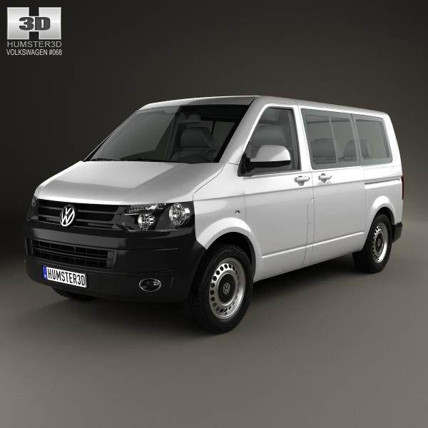 Volkswagen Transporter (T5) Kombi 2010 3d model from humster3d.com. Price: $75